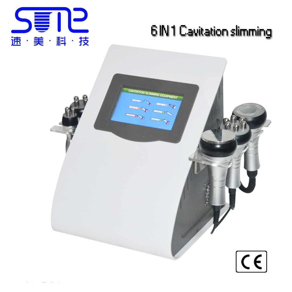 6 in 1 Ultrasonic Liposuction Cavitation Vacuum RF Photon Bio Slimming Beauty Machine