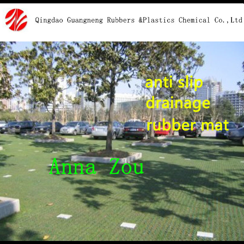 Used Grass Drainage Rubber Mats Rubber Hollow Mats