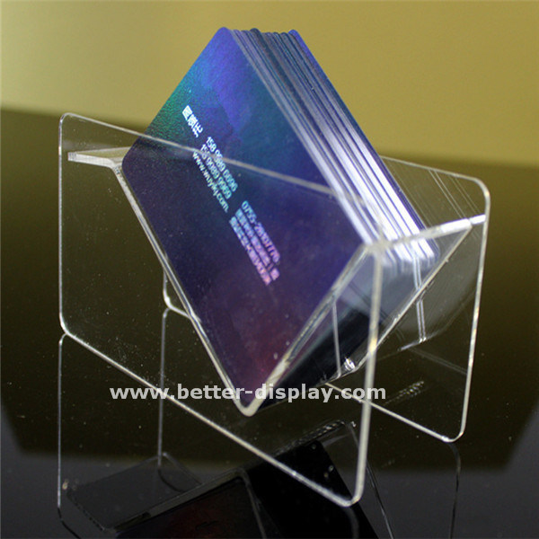 Custom Acrylic Business Card Display Stand