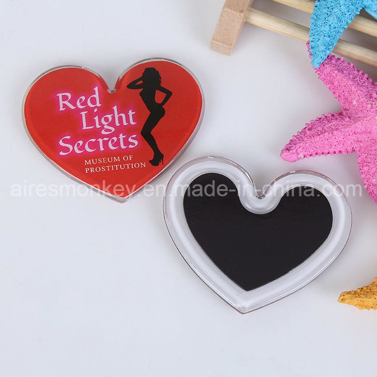 2017 Hot Sale Heart Shape Acrylic Fridge Magnet