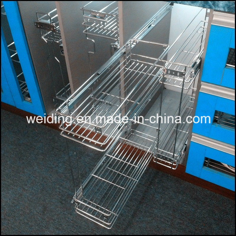 Wire Style Two Layers Base Side Mount Pullout Basket Wt-B01