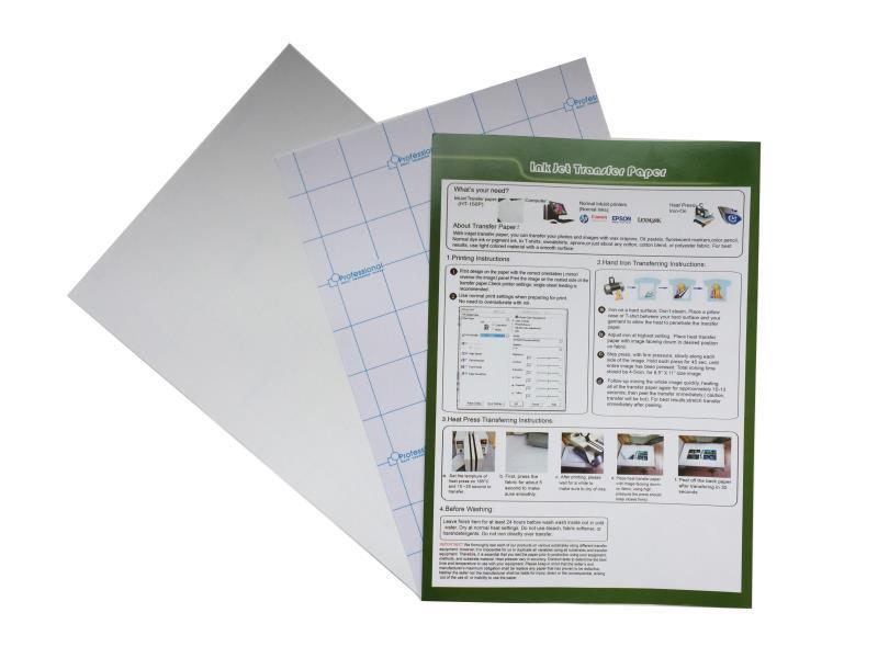 Light Inkjet Heat Transfer Paper (Hot/Cold Peel)