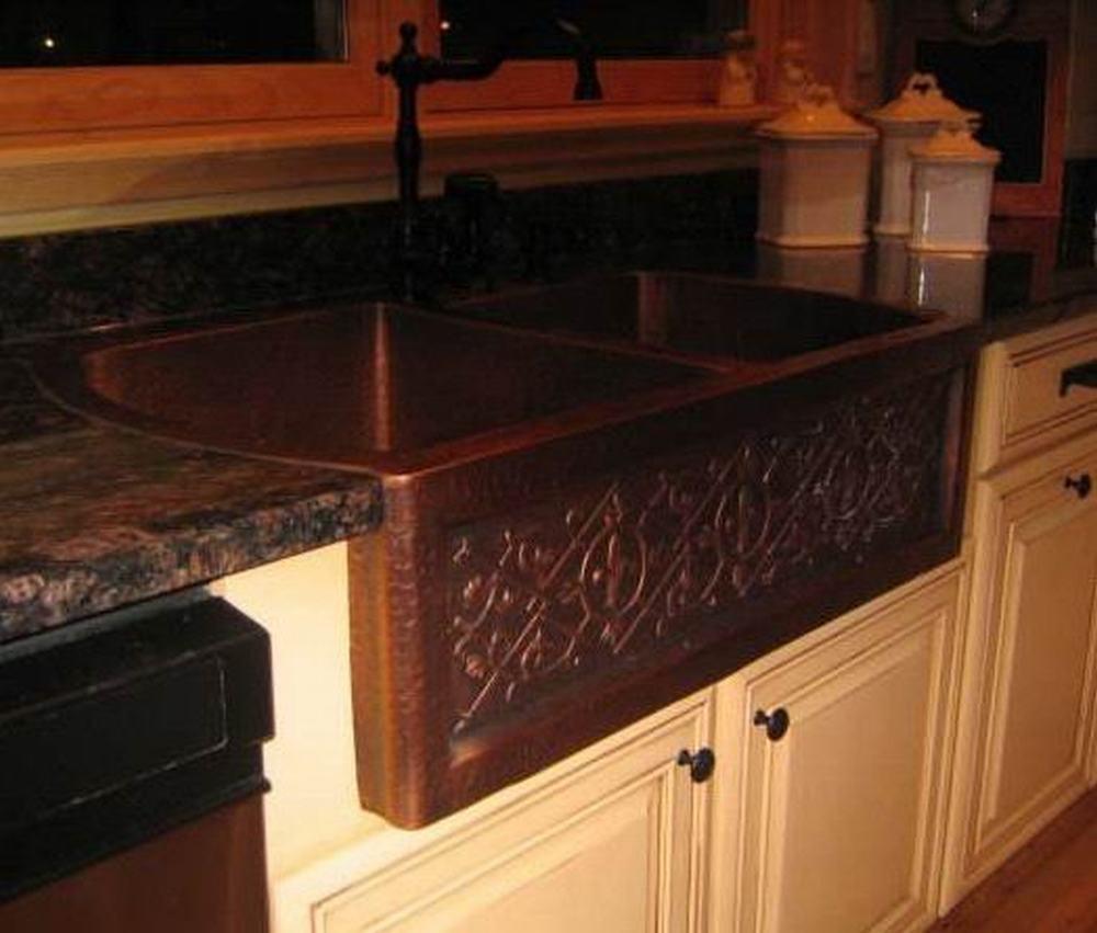 Copper Apron Kitchen Sink : Bowl Copper Apron Sink (CKD362210&8-41A-HD-CES-I) - China Custom Sink ...
