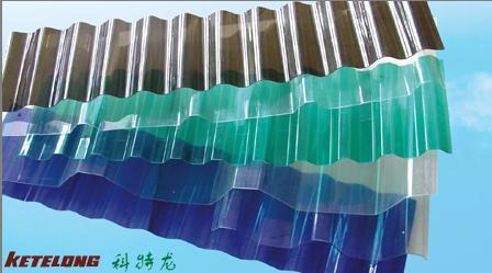 Hoja acanalada transparente del policarbonato hoja for Cubiertas transparentes para techos