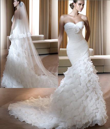 Unique Wedding Dress TDD3