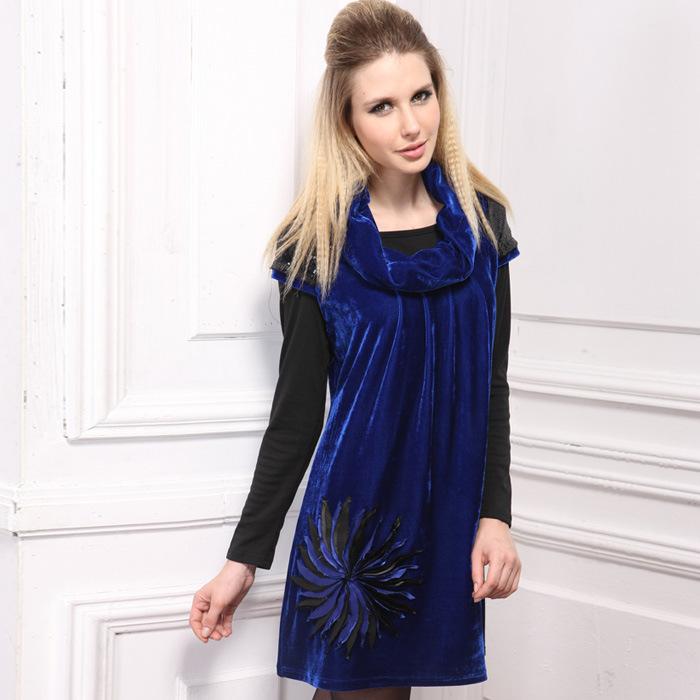 2014 Leopard Collar Fat Women Plus Size Shirt Female Large Size Women Clothing Loose Tops Blouse