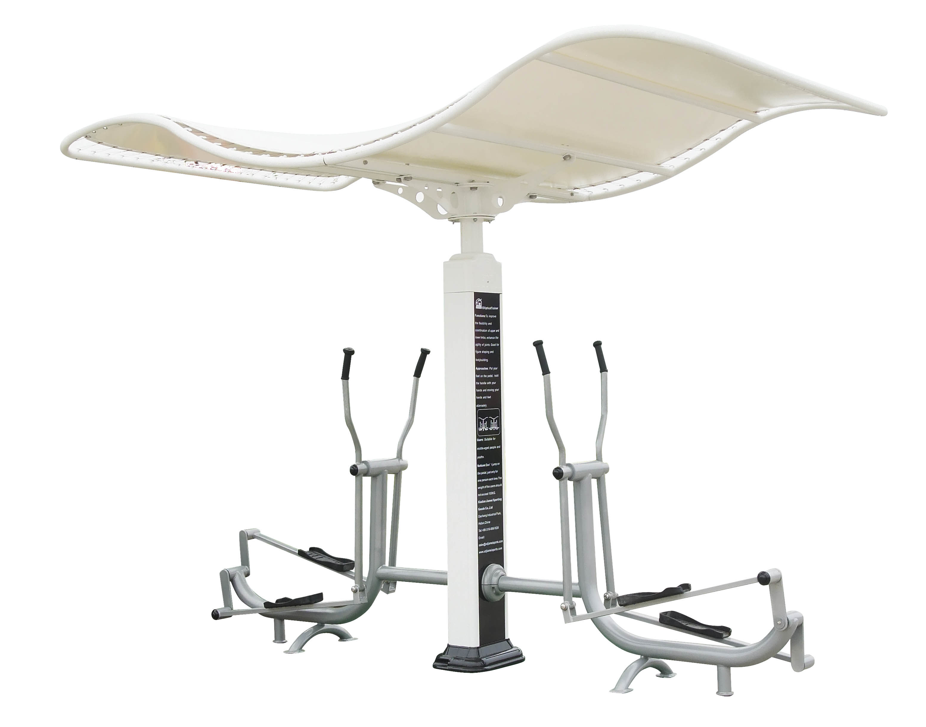 Umbrella Structure Elliptical Trainer Outdoor Fitness Equipment