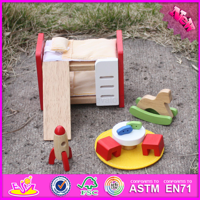 2016 Wholesale Baby Wooden Small Furniture Toy, New Design Kids Wooden Small Furniture Toy, Wooden Small Furniture W06b043