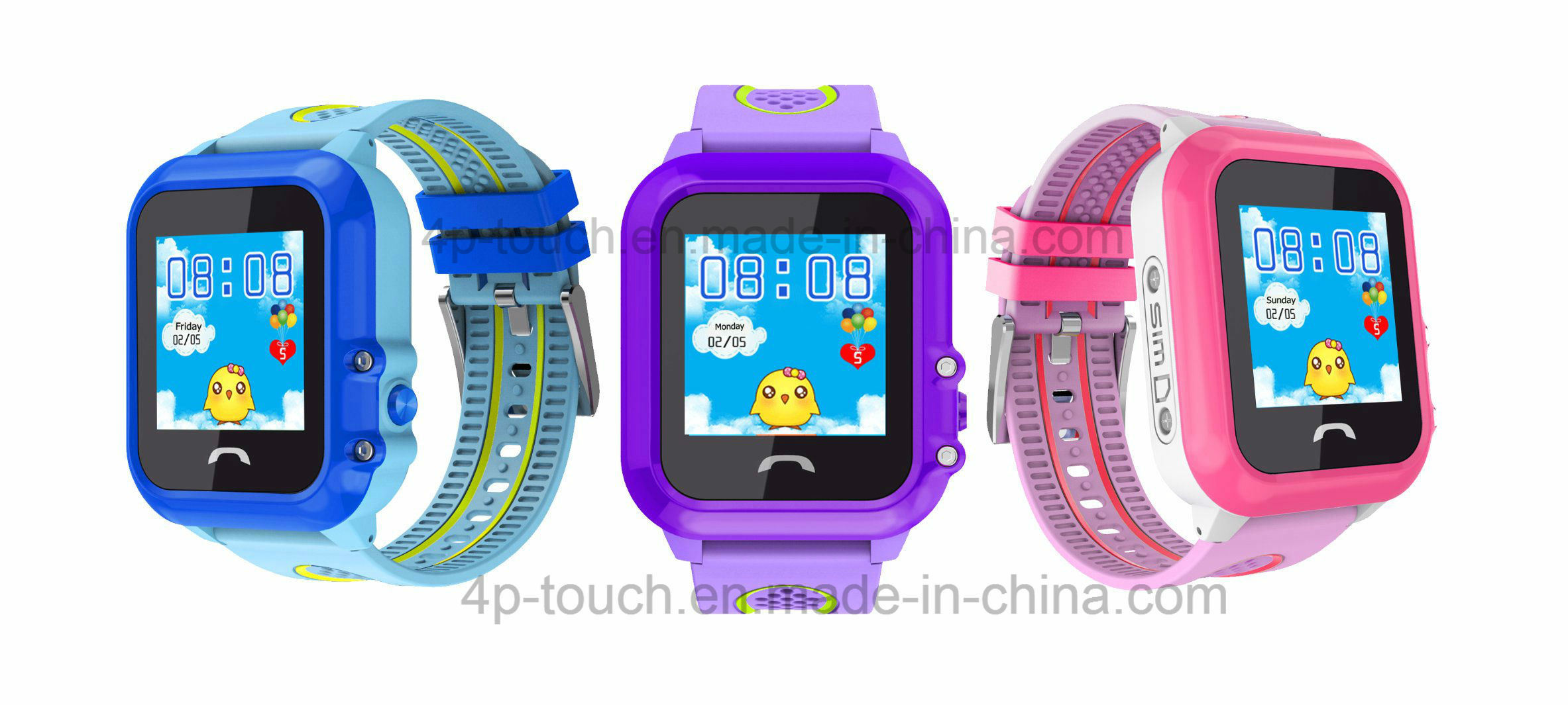 IP67 Waterproof Kids GPS Tracker Watch with Sos Button (D27)