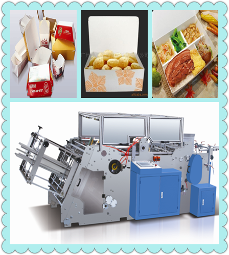 Take Away Food Box Folding Machine