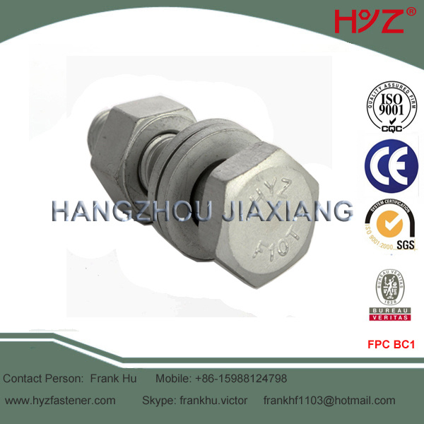 F10t Heavy Hex Head Bolts for Steel Structure