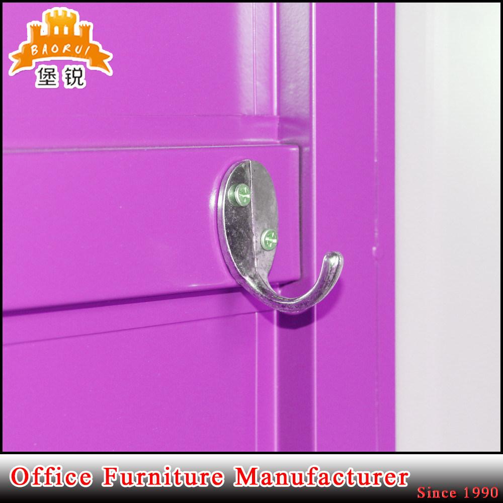 Colorful Swing Door Large Metal Wardrobe