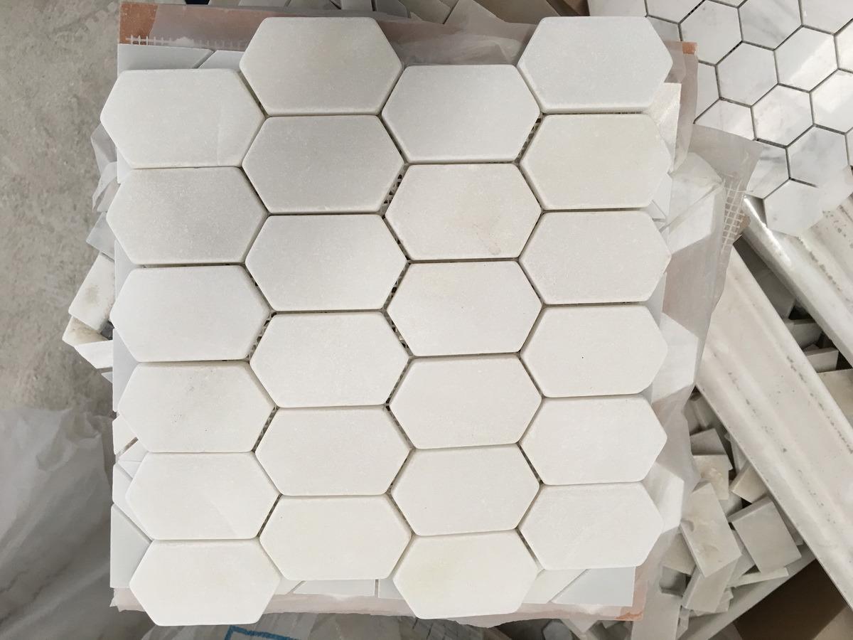 Mosaic Stone Tiles Natural Marble, Mosaic Tile Carrara White Marble Staturary White Marble