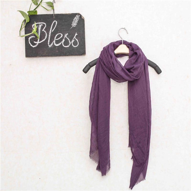 High Quality 100% Polyester Muslim Fabric for Lady Head Warm Scarf