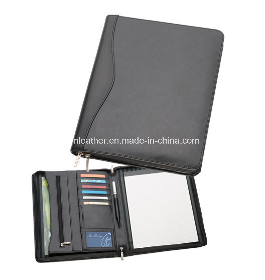 Custom A4 Business Leather Folder Pad Folio with Note