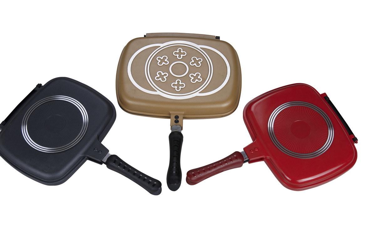 European Design Double Grill Pans