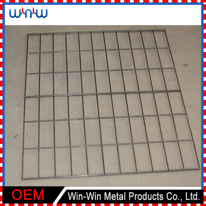 Shopping Cart Storage Galvanized Stainless Steel Wire Mesh Basket
