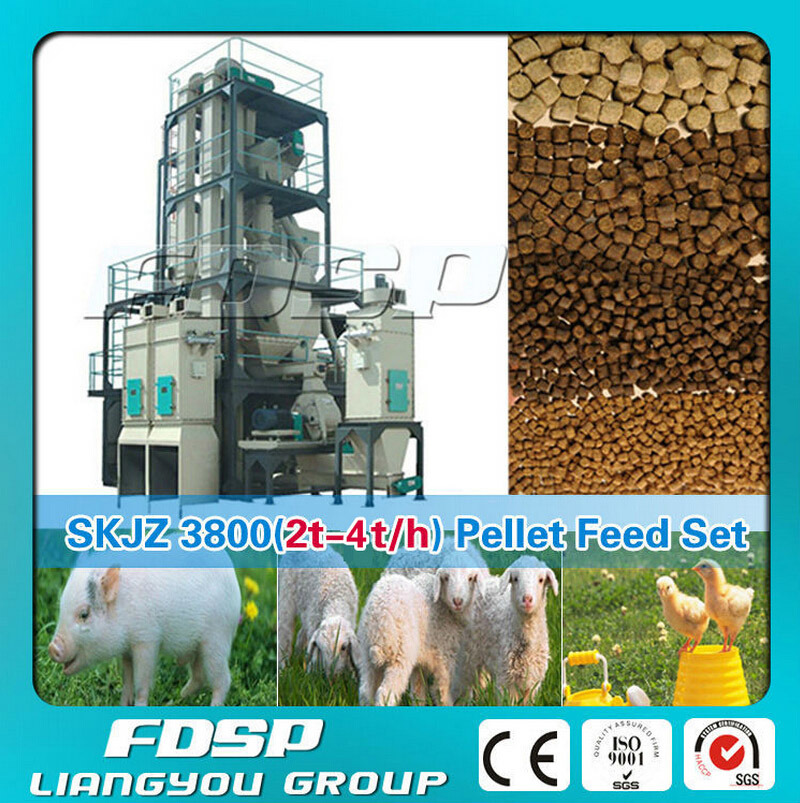 1-3tph Poultry Chicken Cattle Feed Line Small Feed Pellet Plant