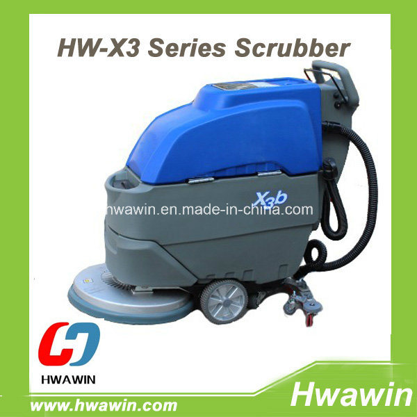 Hand Push Floor Scrubber Machine with Auto Drive System