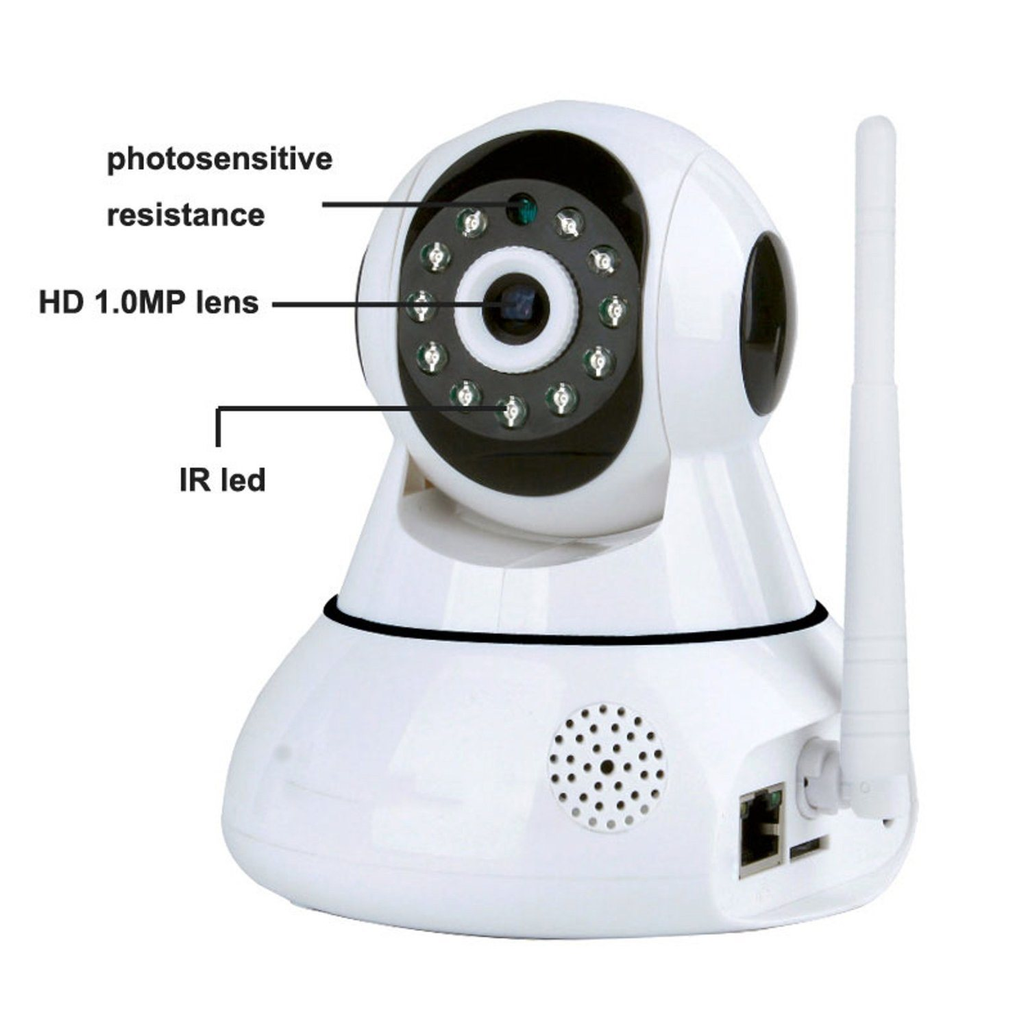 WiFi Wireless IP Security Camera, Plug and Play Home Surveillance Camera, Baby Pet Monitor