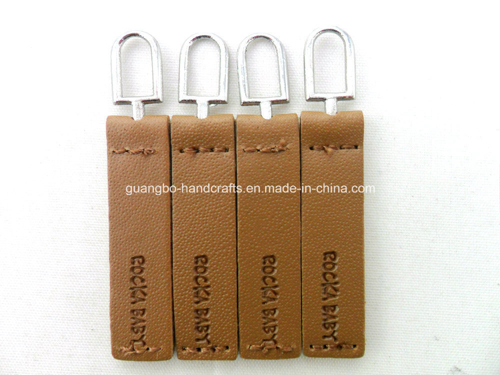 Top Quality Black Leather Customized Slider Zipper