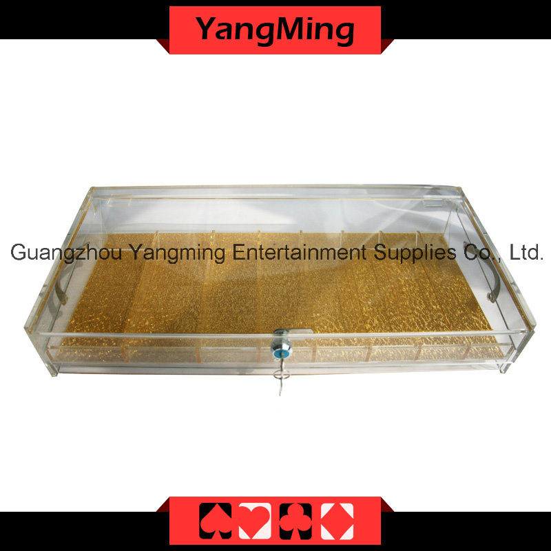High - Grade Acrylic Handle Chip Tray with Lock - 1 (YM-CT10)