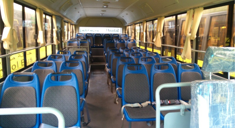 10.5m School Bus 55 Seats Diesel Bus Luxury School Bus with Low Price