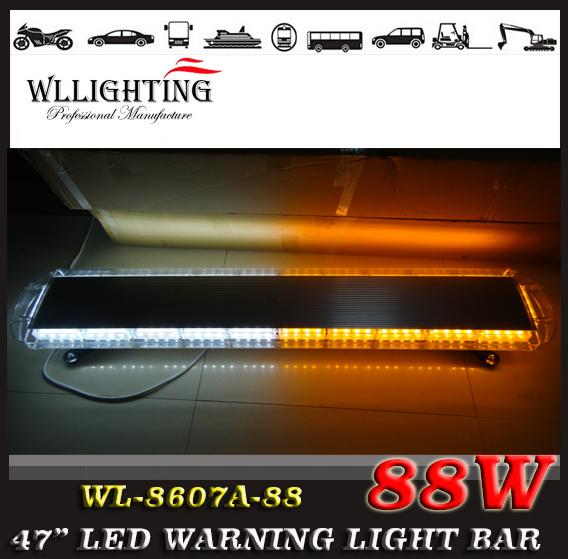"Police Car LED Emergency Warning Lightbar 47"""
