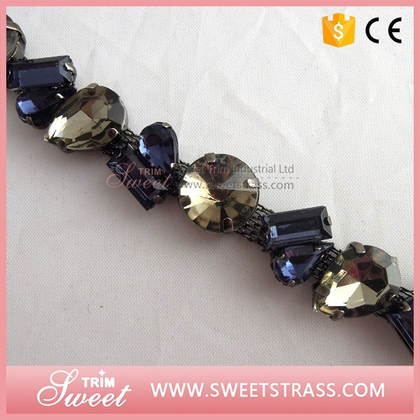 Shoes Accessories Fancy Stone Rhinestone Cup Chain