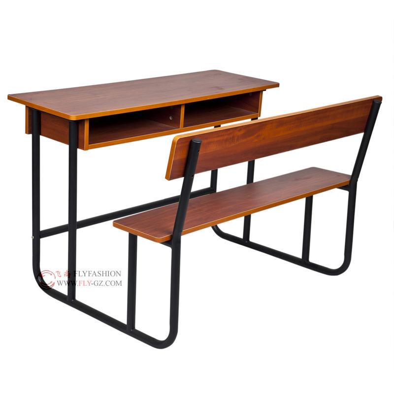 Middle School Wooden School Furniture Double Desk Sets (SF-21D)