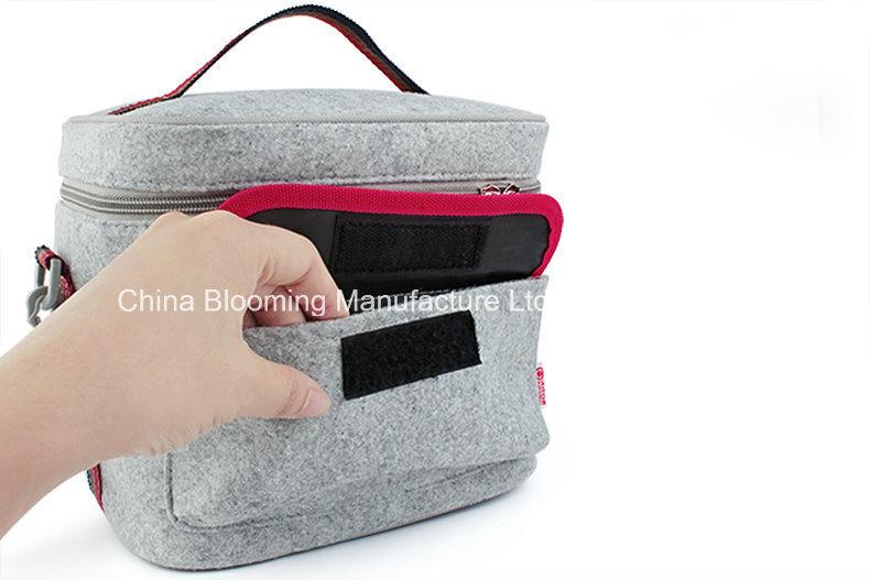 Felt Aluminium Foil Insulated Camping Cool Cooler Lunch Bag