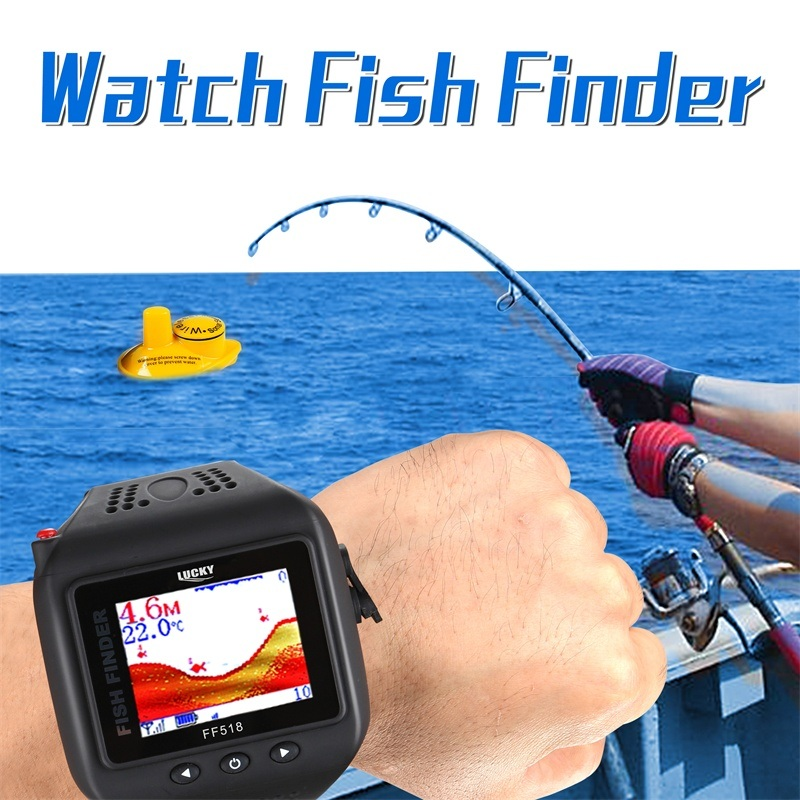 1.77 Inch TFT Color Screen Wireless Sonar Watch Fishfinder (FF518)