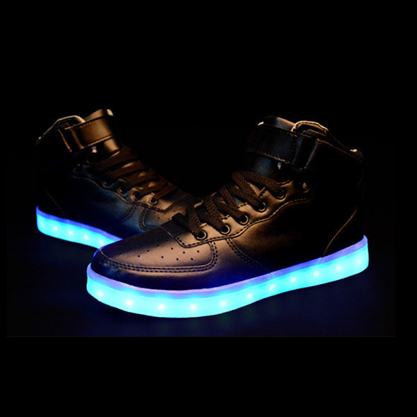 Men USB Charging LED Sport Shoes Flashing Sneakers