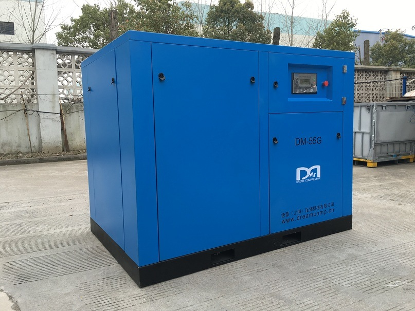 Stationary Silent Rotary Screw Air Compressor for Ship Building Yard