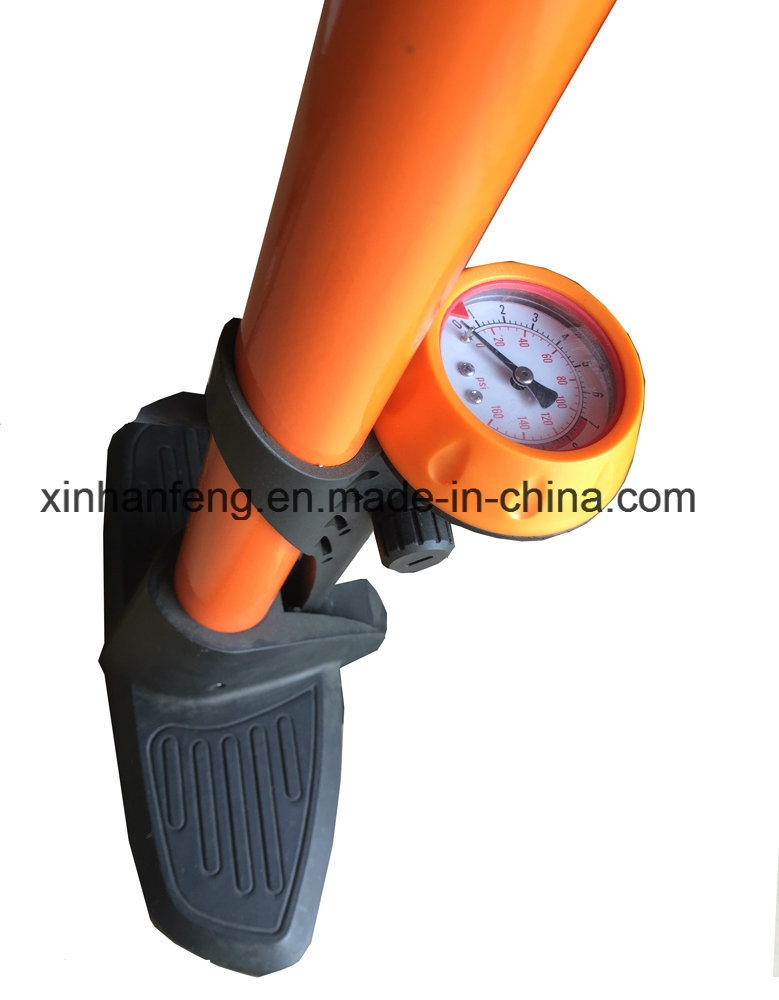 Aluminum Tube Bicycle Hand Pump for Bike with Gauge (HPM-005)