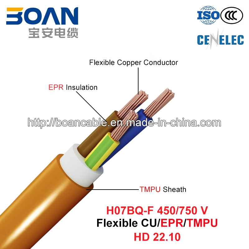 H07bq-F, Rubber Cable, 450/750 V, Flexible Cu/Epr/Tmpu (HD22.10)