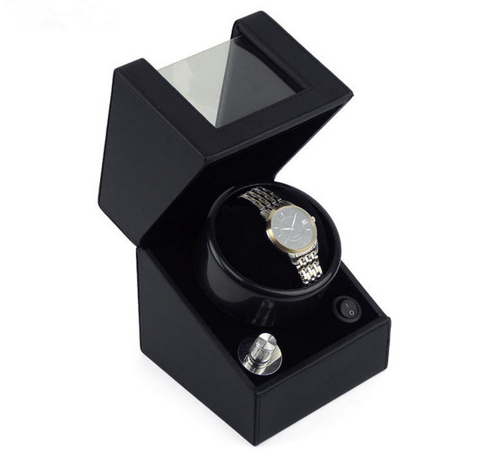 Black High Gloss Painting Automatic Wooden Watch Winder