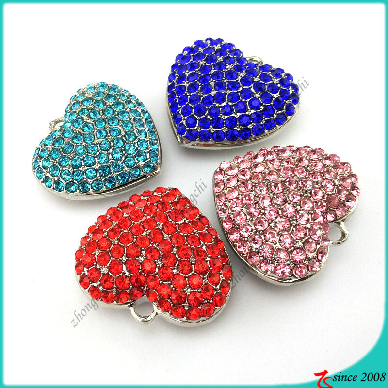 Large Heart Pendant Charms for Jewelry Findings (LPE)