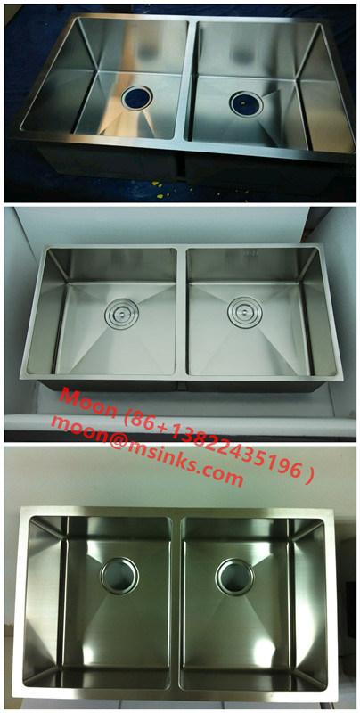 Handmade Sink Double Sink 50/50, Customized Stainless Steel Sink Hmrd3219
