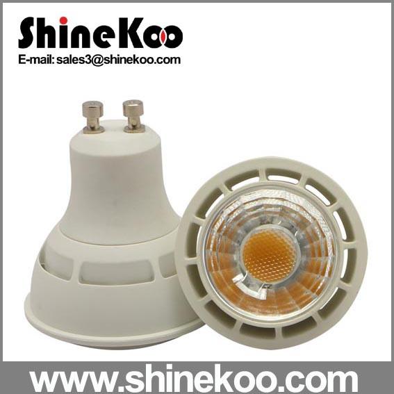 Aluminium Plastic GU10 Gu5.3 E27 COB 5W LED Downlight