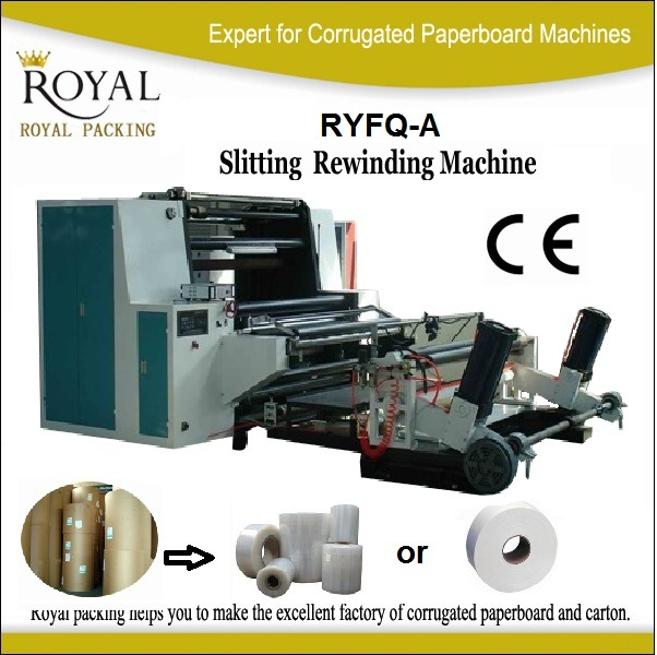 Shaftless Paper Roll Slitting and Rewinding Machine