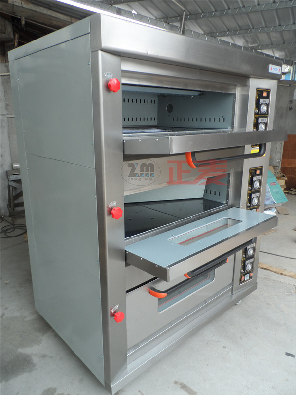 3 Layers and 6 Trays Electric Stainless Steel Door Deck Oven (ZBB-306D)