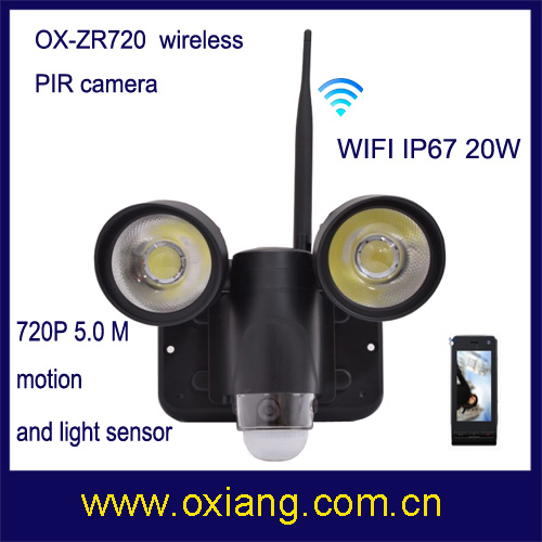 Hot Sale Wireless WiFi PIR Light Camera 3G Security Camera with 32GB SD Card
