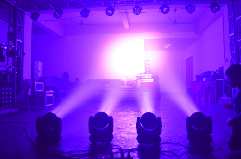 7PCS 12watt RGBW 4in1 Mini LED Moving Head (HL-010BM)
