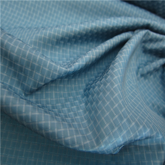 50d Woven Dobby Twill Plaid Plain Check Oxford Outdoor Jacquard 100% Polyester Fabric (X046)