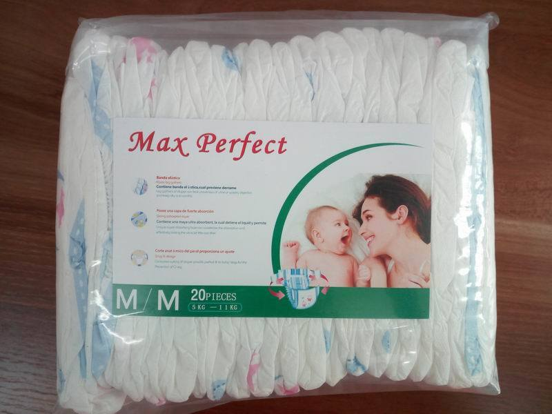 Soft and Breathable Diapers with Transparent Packaging (M)