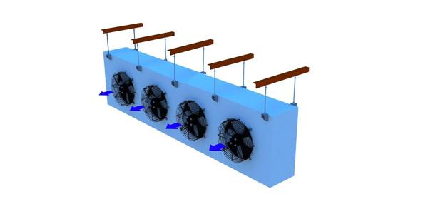 Stainless Steel Tube Finned Ammonia Evaporator