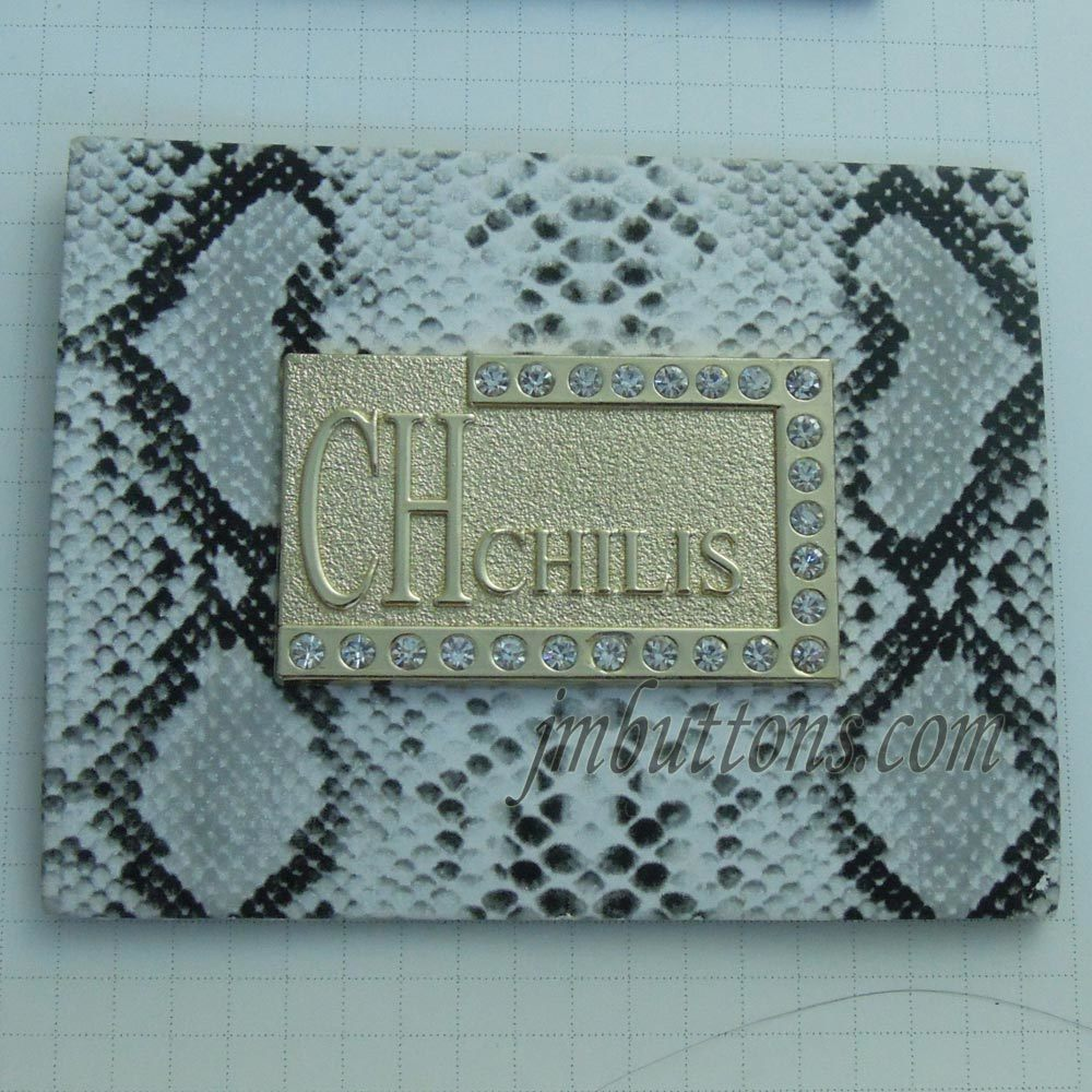 Denim Accessories Brand Logo Jeans Metal Leather Labels Tags PU Patch Factory