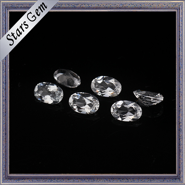 Synthetic Oval Faceted Cut CZ Gemstone for Jewelry