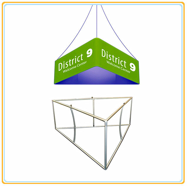 10ft Triangular Fabric Tension Hanging Banner